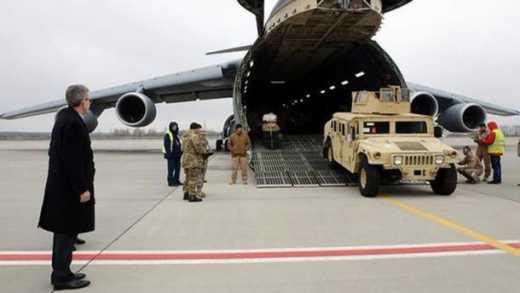 Легионы НАТО прибывают в Украину: Посол США в Украине встретил очередную партию броневиков HMMWV