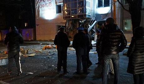 """В центре Одессы взорвали офис """"Правого сектора"""" ФОТО"""