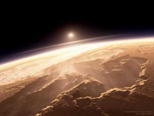 Эта планета имела больше воды, чем арктический океан, но она вся была потеряна в космосе.This planet had more water than the Arctic Ocean, but it was all lost in space.