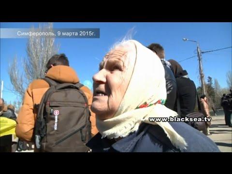 Я пришла услышать когда нас освободят от оккупации, — бабушка, пришедшая почтить память Шевченко в Симферополе