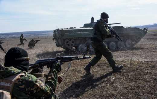 Под Успенкою неизвестные зажали российских мотострелков и уничтожили спецназ ВВ РФ, который шол на помощь