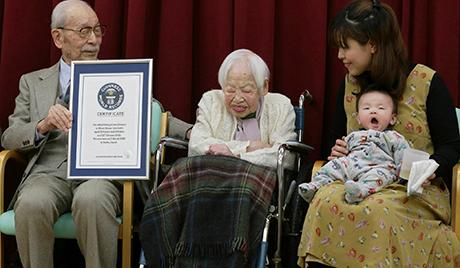 В Японии умерла старейшая жительница Земли.In Japan, died the oldest inhabitant of the Earth.