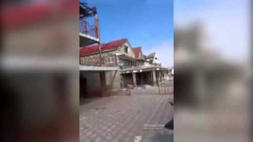 """В сети появилось шокирующее видео, что боевики """"ДНР"""" оставили после себя в Широкино +18"""