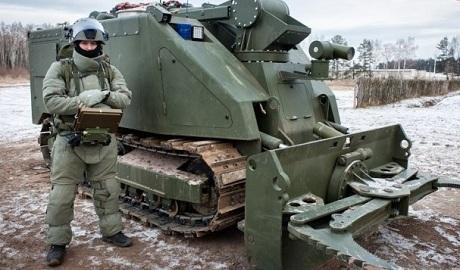 Новейший российский военный робот Уран-14 — это покрашенный хорватский MVF-5 ФОТО