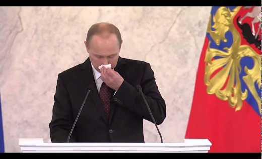 Президент сопля: В интернете набирает популярность видеоролик с безмолвным выступлением Путина ВИДЕО