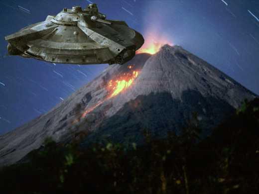 Вулкан в Мексике стал секретной базой для НЛО (ВИДЕО)