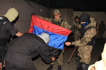Одесситы нашли в офисе КПУ символику террористов (фото)