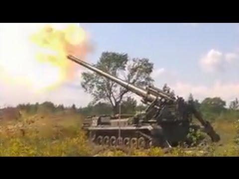"""От Украины с любовью: """"2С7 Пион"""" передает привет русским террористам из далека ВИДЕО"""