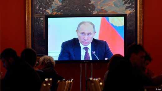 Бред российского  ТВ: «США налаживают выпуск спрея от страха, Путин самый великий, европейцы в отчаянии от российских санкций»