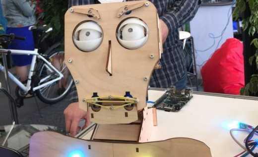 «IT-технологии»: Путину покажут мини-выставку: робот из фанеры вращает головой и хлопает глазами» ФОТО