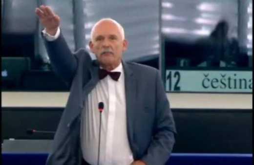 "Депутат Европарламента, поклонник политики Путина, ""кинул зигу"" во время заседания ВИДЕО"