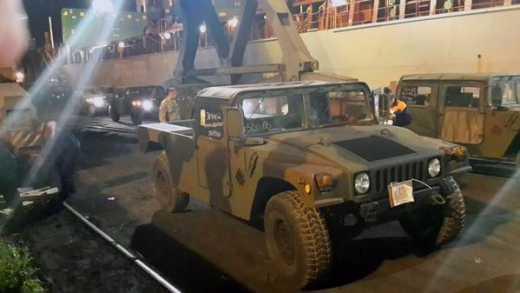 В Одесу прибыла новая партия HUMVEE – 100 штук (ФОТО)