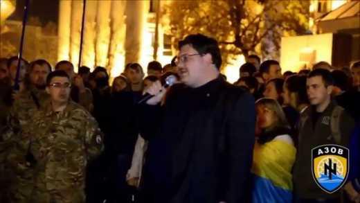 Оживший Михаил Круг выступил перед батальоном АЗОВ (ВИДЕО)