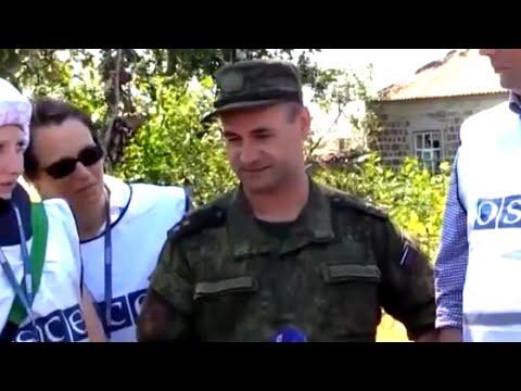 Российский генерал заговорил на украинском во время встречи с ОБСЕ и журналистами