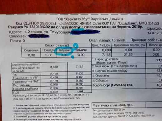 В Харькове пришли платежки за газ для животных (ФОТОФАКТ)
