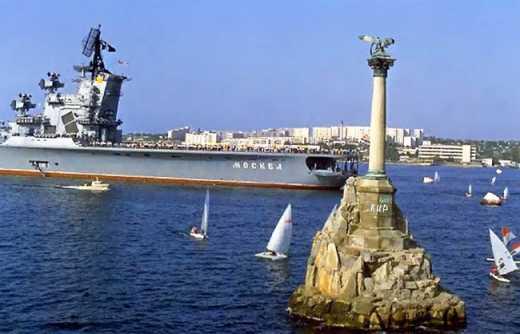 Трезубец и надпись «Крым наш», — патриоты в Севастополе троллят вату ФОТО