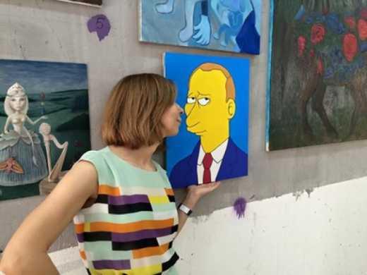 С московской выставки украли картину с Путиным