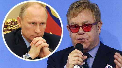 Путин по телефону обсудил с Элтоном Джоном проблемы сексменшинств