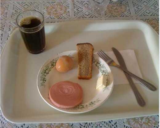 г. Щекино (Тульская обл) Гостиница  Завтрак
