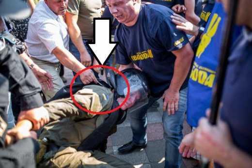 Свободовцы под парламентом резали солдат скальпелями? (ФОТО)