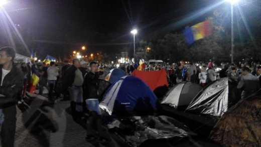 Протесты в Кишиневе – разбит палаточный городок (фото)
