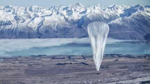Google запускает 300 воздушных шаров для раздачи Интернета