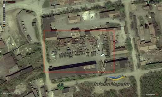 """""""Яндекс"""" вскрыл базы российских оккупантов, скопление военной техники и боеприпасов на Донбассе."""
