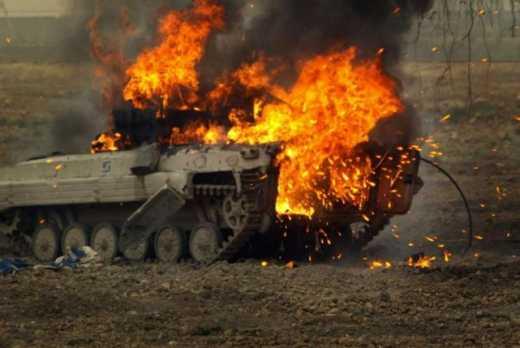 У Сирії були спалена російська бронетехніка