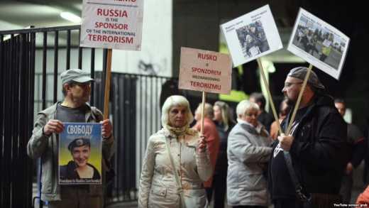 Активісти протестували проти концерту російського військового ансамблю в Чехії