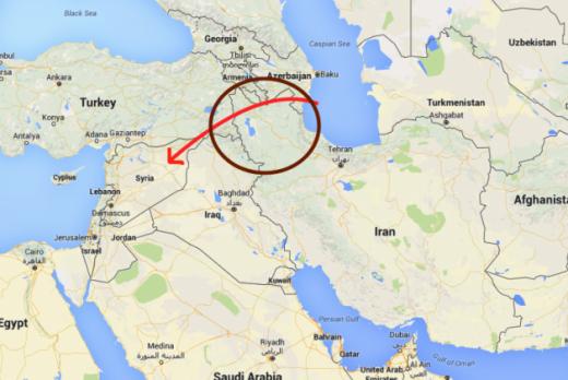 Російські ракети впали на території Ірану