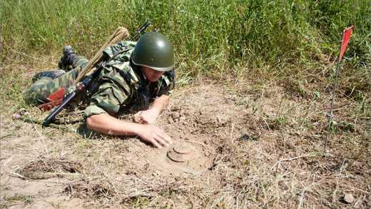 Кацапы минируют оккупированные территории Донбасса