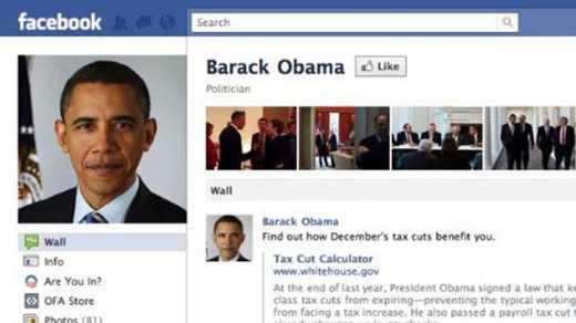 Обама появился в «Фейсбуке»