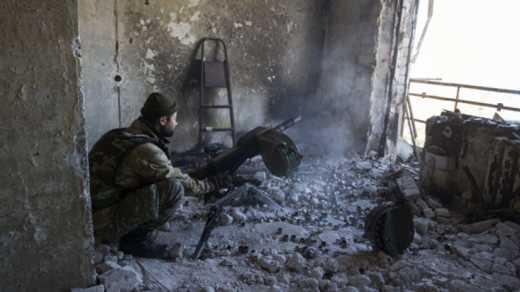 Бойцы 42-ой бригады освободили часть оккупированного села