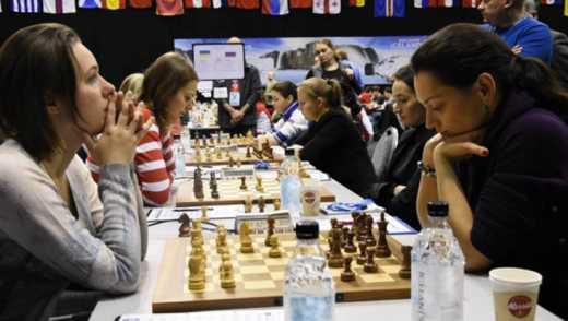 Шахматистки с Украины выиграли серебро на чемпионате Европы