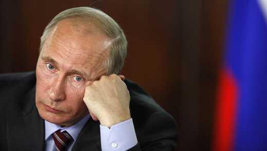 Путина сфотографировали в женском пуховике