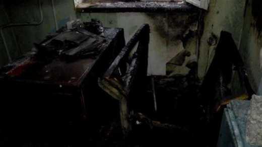 В Сумах сожгли офис «Правого сектора»