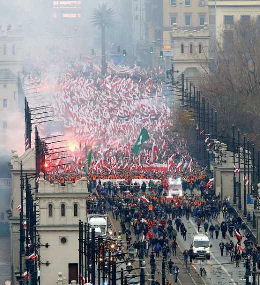 У Польщі пройшов марш в честь дня незалежності