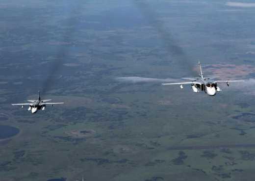 Российские СУ-24 сбросили пятисоткилограммовые бомбы