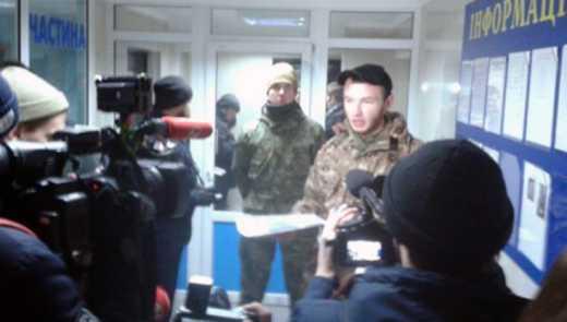 Активисты захватили управление милиции в Киеве