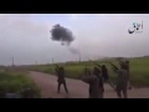 Появилось видео падение бомбардировщика России Су-24