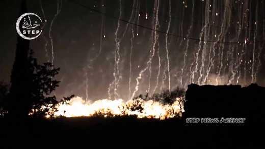 Россия сбросила на Сирию парашютные бомбы
