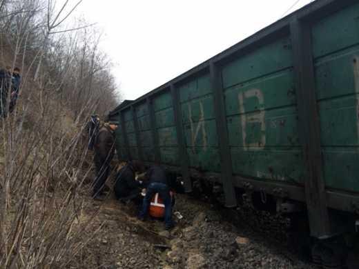 На Львовщине поезд сошел с рельс, в реку Опир упали два вагона