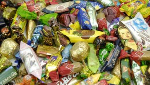 Дітей бійців АТО пригостили російськими цукерками