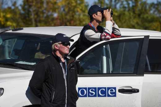 Неизвестные напали на миссию ОБСЕ в Луганске