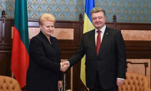 Порошенко посетил Литву с рабочим визитом