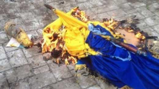 Трьох мешканців Краматорська засудили за наругу над прапором України