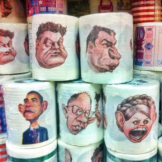 Туалетная бумага с лицами политиков стала топом продаж в Украине (ФОТО)