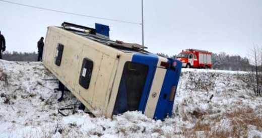 На Сумщині перекинувся пасажирський автобус