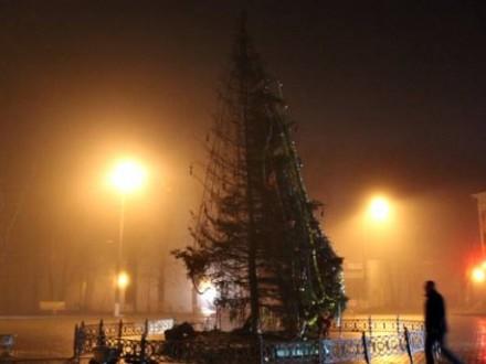 На Буковині підпалили головну ялинку міста?