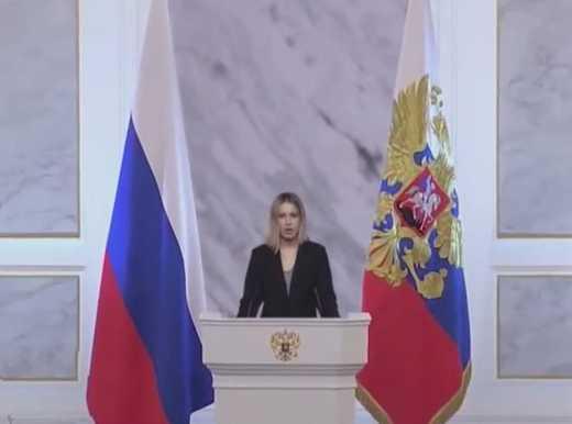 Ксенія Собчак спародіювала послання Путіна до Федеральних збораів